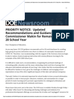 PRIORITY NOTICE_ Updated Recommendations and Guidance From Commissioner Makin for Remainder of 19-20 School Year – Maine DOE Newsroom