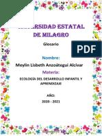 U3 TAREA 2 ECOLOGIA DEL DESARROLLO INFANTIL.docxMEYLIN ANZOATEGUIA