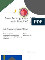 Membuat subprogram MIlling CNC