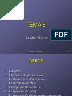 Tema 5 La Planificación