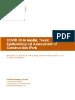 UT Epidemiological Assessment of Construction