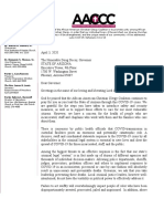 Letter to Governor Ducey on Decarceration During COVID19