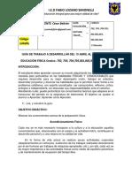 GUIA TRABAJO 13 ABRIL AL 17 ABRIL 2020 PROFESOR CÉSAR BELTRÁN EDUCACIÓN FÍSICA (1)