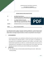 Informe Mensual Técnico de campo