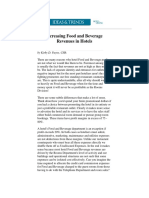 Increasing Food and Beverage Sales in Hotel Environment