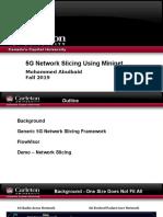 5G Network Slicing Using Mininet
