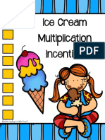 Multiplication Ice Cream Incentive