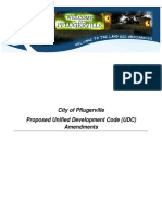 Proposed City of Pflugerville UNIFIED DEVELOPMENT CODE