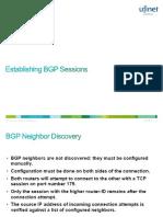 2. Establishing BGP Sessions