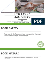 BASIC FOOD SAFETY FOR FOOD HANDLERS