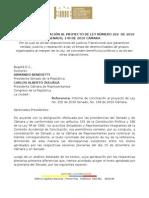 Ley Aprobada de Desmvoilizados P.L.149-2010C202-2010S DESMOVILIZADOS