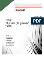 PRESA DE GRAVEDAD Y ARCO