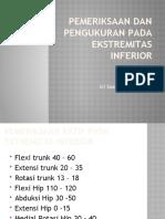 Pemeriksaan dan pengukuran pada ekstremitas inferior