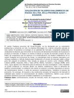 Articulo comercializacion de taladros en gualaceo