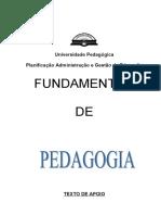 Fundamentos de Pedagogia PAGE