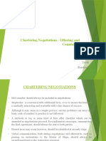 Chartering Negotiations - Offering and Countering