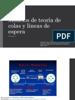 UNID 5 MODELO DE TEORIA DE COLAS Y LINEAS DE ESPERA