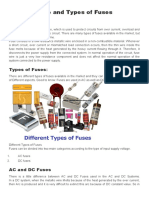 Fuse and Types of Fuses