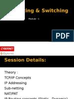 IP Routing & Switching Basics Module - 1