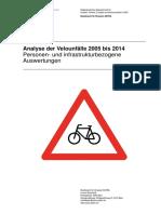 Analyse der Velounfälle 2005 bis 2014 - Personen- und infrastrukturbezogene Auswertungen