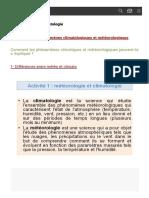 Météorologie et climatologie - Cours