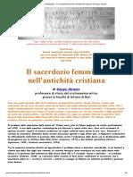 TropeaMagazine - Il sacerdozio femminile nell'antichità cristiana di Giorgio Otranto.pdf