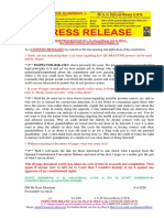 20200408-Press Release Mr g. h. Schorel-hlavka o.w.b. Issue – Re Constitutional Quarantine Powers, Etc