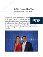 Dominic Nel Fitness Tips That Everyone Needs to Know