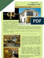 Catálogo servicios en Enoteca Qubel en francés