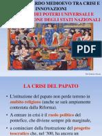La Crisi Dei Poteri Universali e l'Affermazione Degli Stati Nazionali
