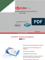 Catálogo de pruebas para detectar el coronavirus enviado por Grupo Met a Maldita.es