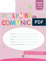 Limba si comunicare  Grupa mica 3-4 ani