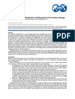 Bridging particle size distribution in drilling fluid and formation damage
