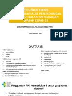 Panduan APD Terbaru 6 April 2020