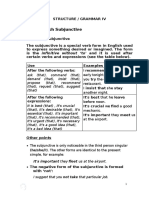 The Subjuntive test