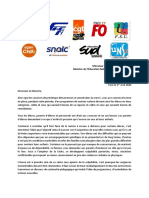 Courrier Federations Education 01-04-20