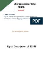 32- bit Microprocessor-Intel 80386