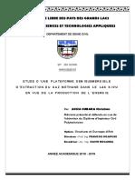 Extraction Du Gaz Méthane Lac KIVU Et Production de l'Electricité