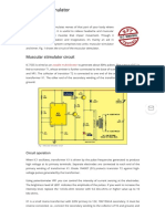 Muscular Stimulator Project | Detailed Circuit Diagram Available