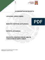 2. MEMORIA DESCRIPTIVA DEL PROYECTO CERRO CABEZA