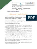 Ficha de trabalho - Projeto