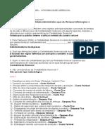 EXERCÍCIOS E AVALIAÇÕES   CONTABILIDADE GERENCIAL (1)
