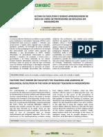 FATORES QUE DIFICULTAM OU FACILITAM O ENSINO-APRENDIZAGEM DE EVOLUÇÃO BIOLÓGICA NA VISÃO DE PROFESSORES DE BIOLOGIA.pdf