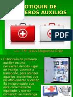 BOTIQUIN DE PRIMEROS AUXILIOS