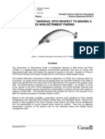 Department of Fisheries and Oceans, Non-Detriment Report on Narwhal