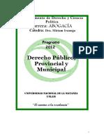 Programa de Derecho Público Provincial y Municipal (UNLAM)