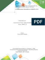 TAREA 3 – IDENTIFICAR PROCEDIMIENTOS Y TÉCNICAS PARA LA MEDICIÓN DE CONTAMINANTES (Aporte Individual)