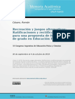 CÉSARO_ponencia 2019 Recreación y juegos alternativos