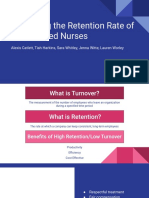 increasing the retention rate of experienced nurses