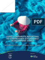 Using Corporate Reporting to Strengthen Sustainable Development Goals